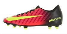 Nike Mercurial Vortex III FG Soccer Cleats Black Orange 831969 870 Mens US 11.5