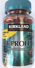 Kirkland Signature IBUPROFEN Pain Fever Reliever 200mg/Tablet 500 Tablets/Bottle