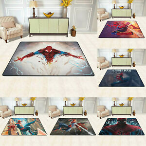 Marvel Spider Man Rugs Large Shaggy Rug Soft Mat Living Room Bedroom Carpet