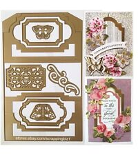 New listing Anna Griffin Cutting Dies Fancy Flips Card Base Flourishes Butterflies 7p Used