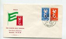 Italien Brief FDC Mi 1016 - 1017 Roma 13.9.58
