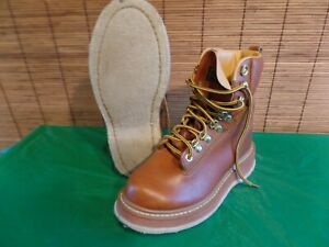 VTG Cabela's 82113007  Brown Fly Fishing Felt Sole Wading Boots size 7 wmn's 8.5
