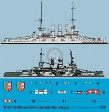 Peddinghaus 1/1250 SMS Schleswig-Holstein Battleship WWI / WWII Markings 3130