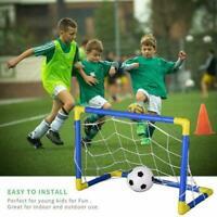 Indoor Mini Folding Football Soccer Ball Goal Post Set+Pump Net Sport Kids M6C2