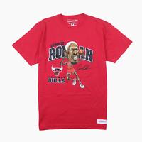 Mitchell & Ness Mens Chicago Bulls Dennis Rodman NBA Basketball T-Shirt M Tee BN