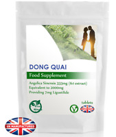 Dong Quai Extract 2000mg (30/60/90/120/180 Vegan Tablets) Male Female Libido, UK