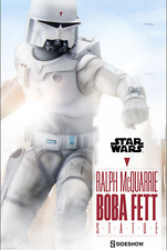 STAR WARS SIDESHOW COLLECTIBLES 1/4 SCALE BOBA FETT RALPH MCQUARRIE PREM FORMAT
