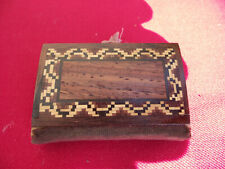 More details for itsy bitsy little wooden tunbridgeware book to hold your pins !
