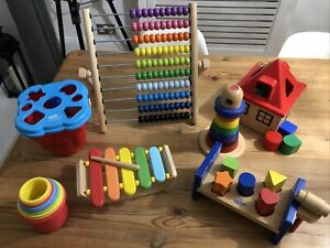 Learning Colours Counting Shape Recognition Wooden Toys Bundle Abacus Ikea