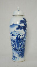 Blue and White  Porcelain  Vase  With  Cover     M3133