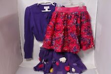 The Children's Place Girls Sweater & Skirt Set - Purple - Size S 5/6