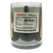 600 CMC Pro Taiyo Yuden Silver Inkjet 52X CD-R Non-Hub Blank Disc T-CDR-SPY-SB