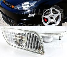 CHROME WITH CLEAR LENS BUMPER SIDE MARKER PAIR SETS FOR FORD FOCUS 2000-2005