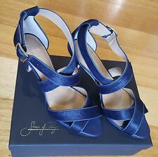 BNIB Shoes of Prey - Navy blue hair leather -  Ladies size 10 EU 41.5 - RRP $269
