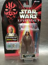 1998 Star Wars Episode I The Phantom Menace Mace Windu Jedi Cloak Action Figure!