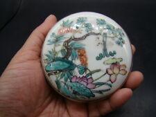 Chinese Tong Zhi (1862-1874) nice famille rose box c5853