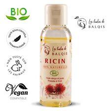 Huile de Ricin Bio spéciale pousse Cheveux Barbe Ongles Cils 100%naturelle 500ml