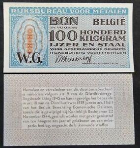 België bon 100 kilogram ijzer en staal rijksbureau voor metalen voor Nederland