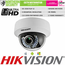 Hikvision 5MP 2.8-12MM Messa a Fuoco Automatica Lente MOTORIZZATA POE SD-CARD CCTV Dome IP Camera