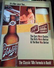 "Schlitz Beer Posters -""Classic 1960's Formula""- ""Cars...Girls...Beer..."" NOS"
