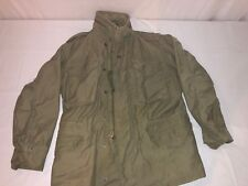 MENS ALPHA INDUSTRIES FIELD COAT HOODED ARMY GREEN RN355569 SIZE M
