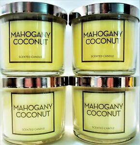 Bath Body Works MAHOGANY COCONUT Candles, 4 oz., NEW x 4