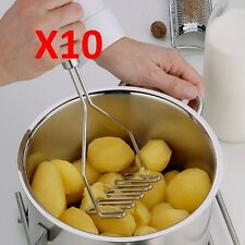 LOT OF 10 Potato Masher Press Stainless Steel Cooking Tool Vegetable NEW