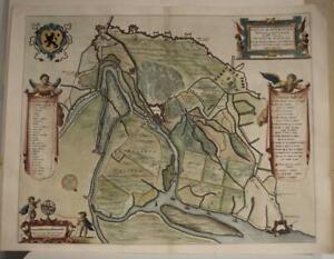 SAS VAN GENT NETHERLANDS 1649 BLAEU SCARCE ANTIQUE ORIGINAL COPPER ENGRAVED VIEW