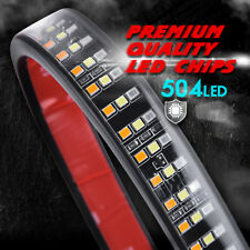 "Updated 60"" TRIPLE Row LED Tailgate Light Bar Turn Signal Brake Rear Runing Lamp"