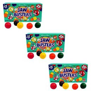 3 x Jaw Busters Jaw Breakers Hard American Candy Sweets Jaw Buster Candy 23g