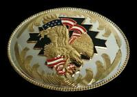 Golden Eagle American Flag Western Belt Buckle Buckles Boucle de Ceinture