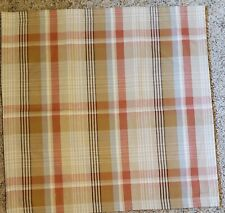 "Pottery Barn Pumpkin Plaid Pillow Cover 20"" sq. NEW"