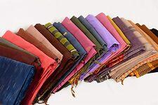 Wholesale Lot 10 Pc Indian Zari Woven Cotton Saree Vintage Fabric Crafting Sari