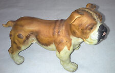 Brown & White with a Black Nose Bull Dog Andrea by Sadek China Dog Figurine