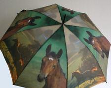 Automatik Regenschirm Stockschirm Horse Pferd 74119 NEU