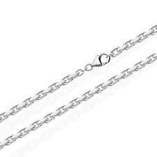 80cm MASSIVE ANKERKETTE Collier 925 SILBER Kette Diamantiert 3mm 30g 3686