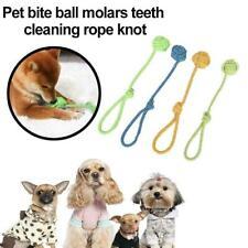 Pet Dog Cat Puppy Cotton Braided Bone Ball Rope Strong Pet Throw War Fetch E5T9