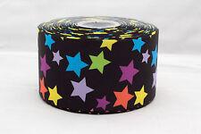 "Rainbow Stars 3"" 3 inch 75mm Grosgrain Ribbon"
