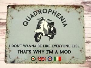 Quadrophenia Jimmy Quote Vespa Lambretta Scooter Dad Gift Small Tin Sign