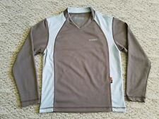 EUC MAMMUT MEN'S DRY CLIM LONG SLEEVE SHIRT COLOR BROWN SIZE SMALL S HIKE CAMP