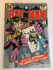 BATMAN #251  (VG+ 4.5) ICONIC JOKER PLAYING CARD COVER - Neal Adams 1973
