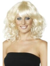 Blonde Wavy Foxy Wig Mid-Length Adult Womens Smiffys Fancy Dress Costume