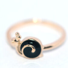 safety gold ring for baby kids children little girls jewelry snail rings black