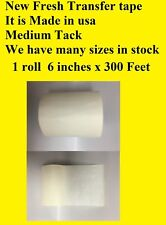 1 Roll 6 X 300 Feet Application Transfer Tape Vinyl Signs Adhesive Made In Usa