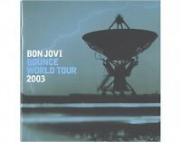 BON JOVI bounce world tour 2003 blue edition TOUR PROGRAMME - 28 pages