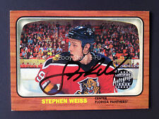 2002-03 Topps Heritage Autograph STEPHEN WEISS Rarer Black Ink Panthers Auto