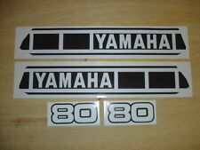 1980 YAMAHA YZ 80 TANK & SIDE PANEL DECALS
