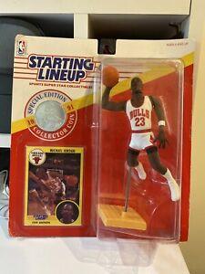"1991 Starting Lineup Michael Jordan Bulls ""JUMP"" SLU"