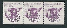 Scott #1904....10.9 Cent...Hansom Cab...Plate# Strip of 3...#1-2