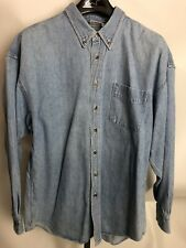 Vintage 1993 Acme Clothing Looney Tunes Denim Button Down Size XL Shirt L/S